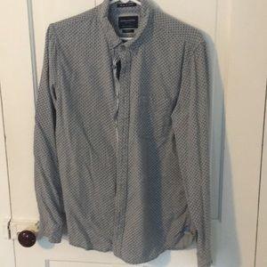 Flannel slim fit men's shirt